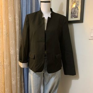 Loft Petites Black Open Blazer